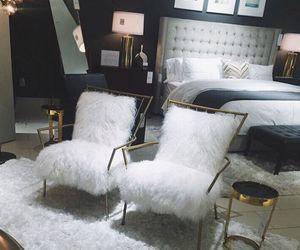 bedroom, white, and luxury image
