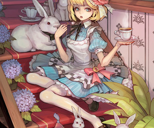 alice in wonderland, anime, and alice image