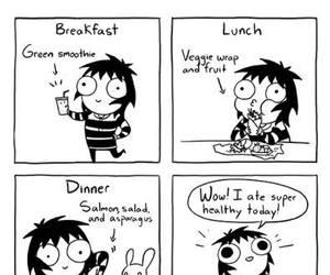 funny, food, and comic image