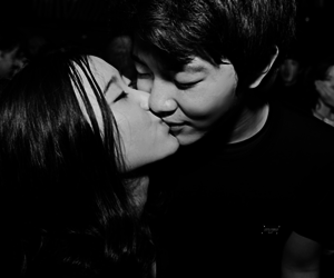 couple, kiss, and asian image
