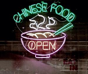 food, grunge, and neon image