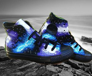 shoes, converse, and galaxy image