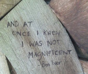 beautiful, bon iver, and carving image