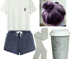 coffe, outfit, and pijama image