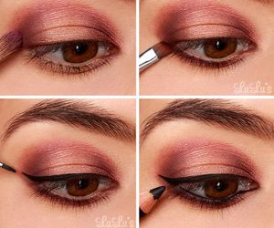 make up, beauty, and eyes image