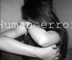 black and white, grunge, and sad girl image
