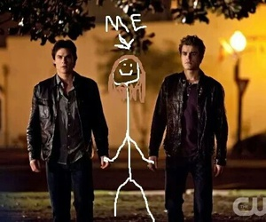 funny, me, and the vampire diaries image