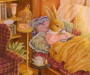book, bunny, and rabbit image