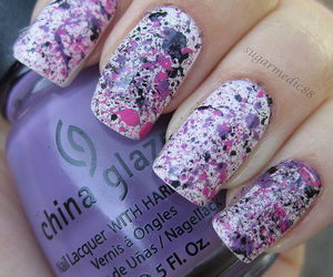 nails, nail art, and china glaze image