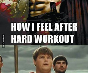workout, funny, and lol image
