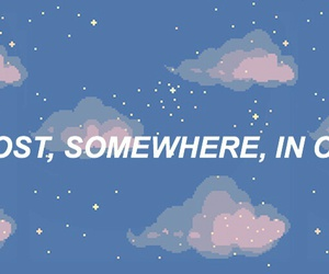 quotes, clouds, and space image