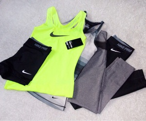 fitness, nike, and clothes image