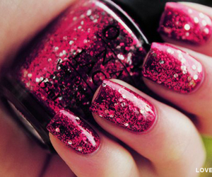 cool, magenta, and nails image