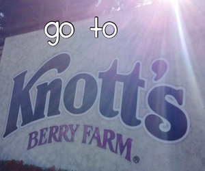 bucket list and go to knotts berry farm image