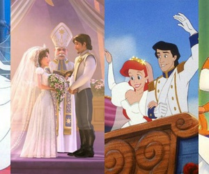 disney princess, tangled, and the little mermaid image