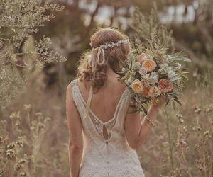 flowers, dress, and beauty image