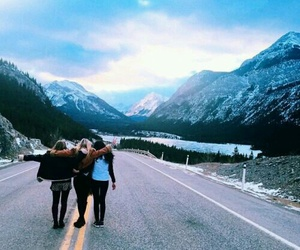 friends, travel, and mountains image