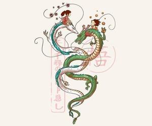 chihiro, dragon, and goku image