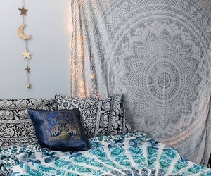 bedroom, decor, and hippie image