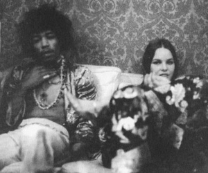 Jimi Hendrix and michelle phillips image