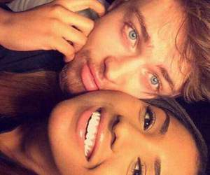 couple, love, and interracial image