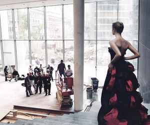 Annie Leibovitz, dress, and red image