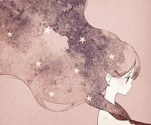 anime, stars, and anime girl image