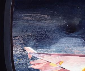 night and plane image