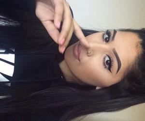 beautiful, woman, and makeup image