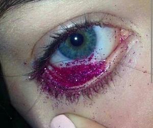glitter, eye, and pink image