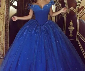 gown, blue, and cinderella image