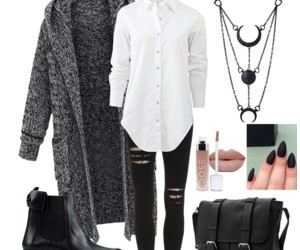 outfit, Polyvore, and rock image