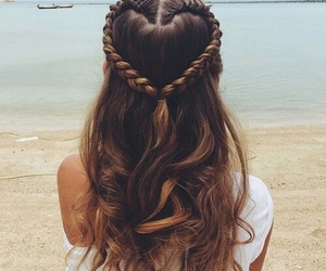 hair, heart, and hairstyle image