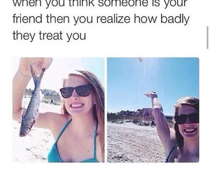 funny, friends, and fish image