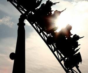 fun, Roller Coaster, and sun image