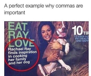 funny, lol, and commas image