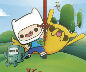 finn, JAKe, and adventure time image