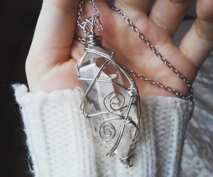 crystals, diamonds, and necklace image