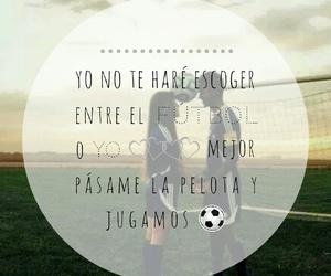 love, girlfriend, and fútbol image
