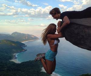 blonde, kiss, and nature image