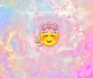 emoji, peace, and pink image