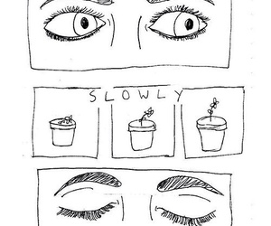 eyes, art, and plants image