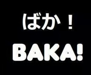 baka, japanese, and stupid image