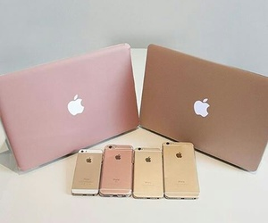 apple, iphone, and gold image