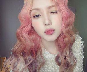 korean, ulzzang, and pink image