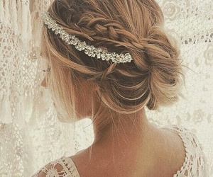 back, bride, and coiffure image