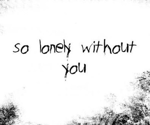 lonely, reality, and unhappy image