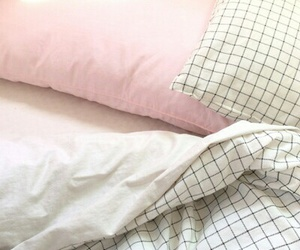 bed, grid, and pastel image