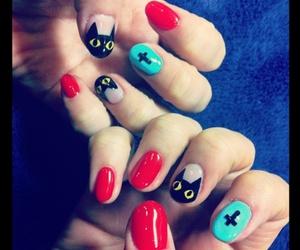 cat, japan, and nail image