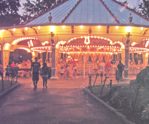 carnival, carousel, and couple image